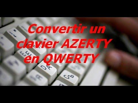 Convertir un clavier AZERTY en QWERTY sur Windows 10.