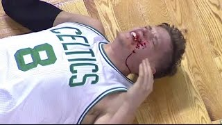 James Harden HITS Jonas Jerebko in the face | Celtics vs Rockets | 1/25/17