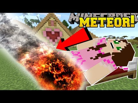 Thumbnail: Minecraft: METEORS!!! (NOTHING SURVIVES THESE DISASTERS!!) Custom Command