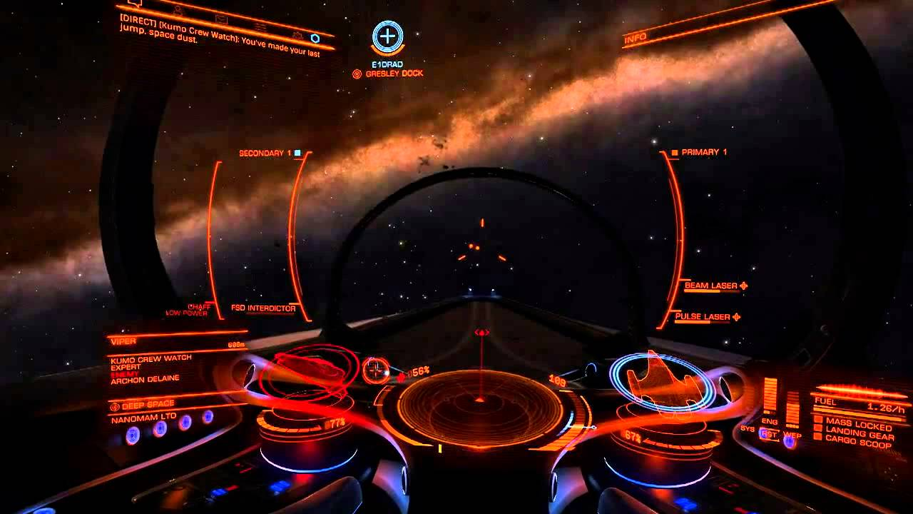 Elite Dangerous Head Tracking Demo with EDTracker