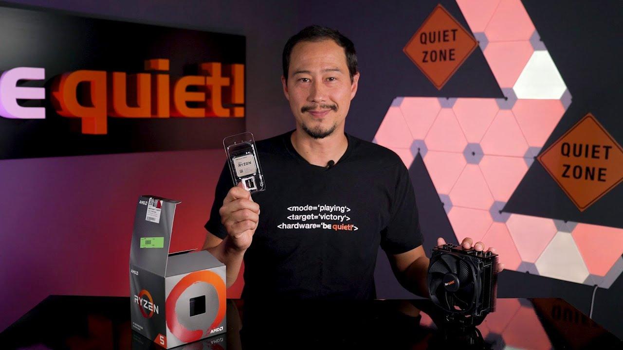 AMDs neue Ryzen 3600XT CPU + be quiet! Kühler = cooler wird's nicht!