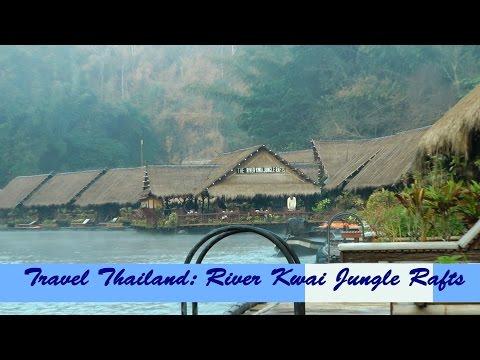 Travel Thailand Kachanaburi River Kwai Jungle Rafts floatel Mon Village elephant ride adventure