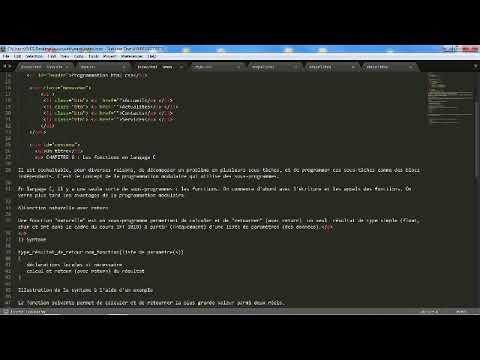 Comment Créé Une Page Web Avec Le HTML 5 Et Le CSS