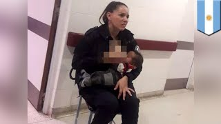 Police officer feeding baby goes viral, gets promoted - TomoNews