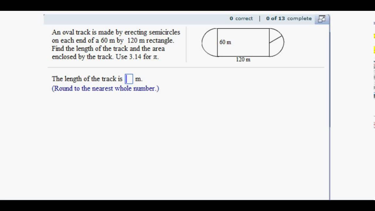 Track And Field Diagram 2007 Suzuki Gsxr 750 Wiring Circle: Application: Finding Area Length Of A Race - Youtube