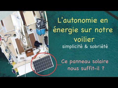 L'électricité à bord de notre voilier : présentation, installation, explication, bilan énergétique…