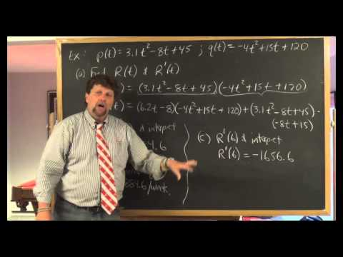 Derivatives of Products and Quotients