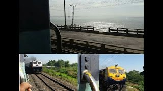 journey compilation part 2 final crossing the farakka barrage over ganges xing with njp shatabdi