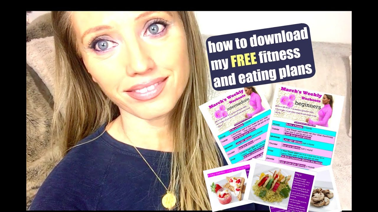 How To Download My Free Fitness and Eating Plans
