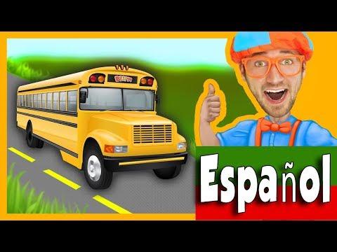 Las Ruedas del Autobús con Blippi Español | Canciones Infantiles