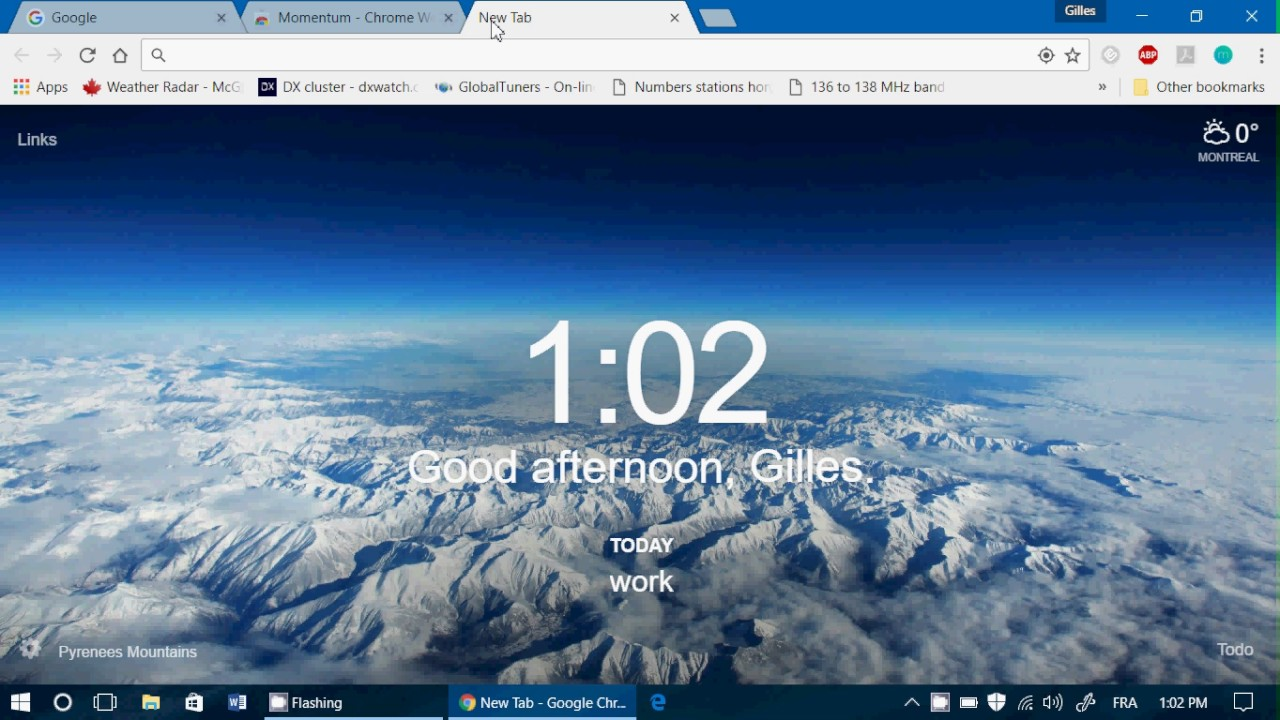 Google Chrome Add on Momentum is a great tab personalization tool from  chrome webstore