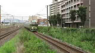 JR九州 キハ71系 臨時特急「ゆふいんの森92号」 博多行 九州工大前駅 通過 2017年7月15日