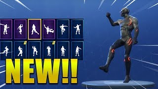 ALL *NEW* SKINS & EMOTES/DANCES SEASON 4 !! Fortnite Battle Royale