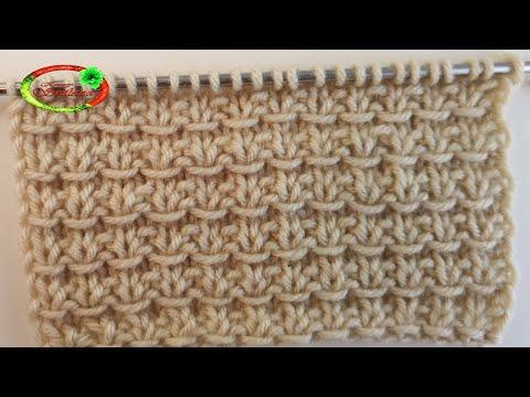 №73 Бесподобный узор  Отличная замена лицевой глади  Knitting Pattern