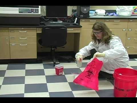 Cleaning Up a Spill (Bloodborne Pathogens) - YouTube