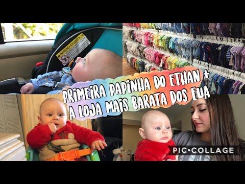 VLOG: Introdução Alimentar do bebê + Compramos roupinhas pra ele