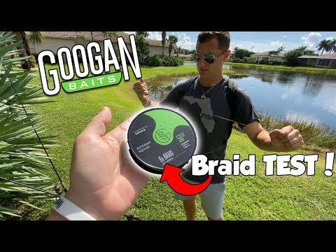 Testing GOOGAN SQUAD Braid Fishing Line on BIG BASS
