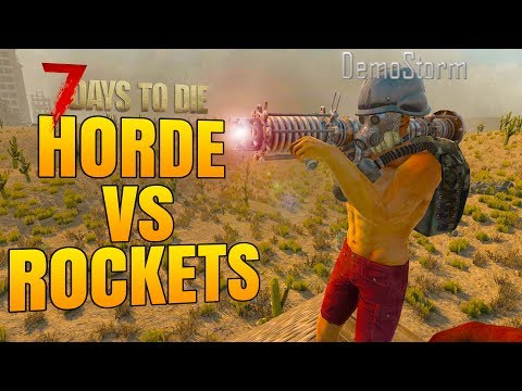 ROCKET LAUNCHER vs DAY 21 HORDE! - 7 Days to Die Alpha 16 Multiplayer Gameplay #32