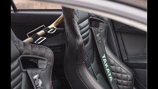 How to install Braum racing seats and Takata harness!