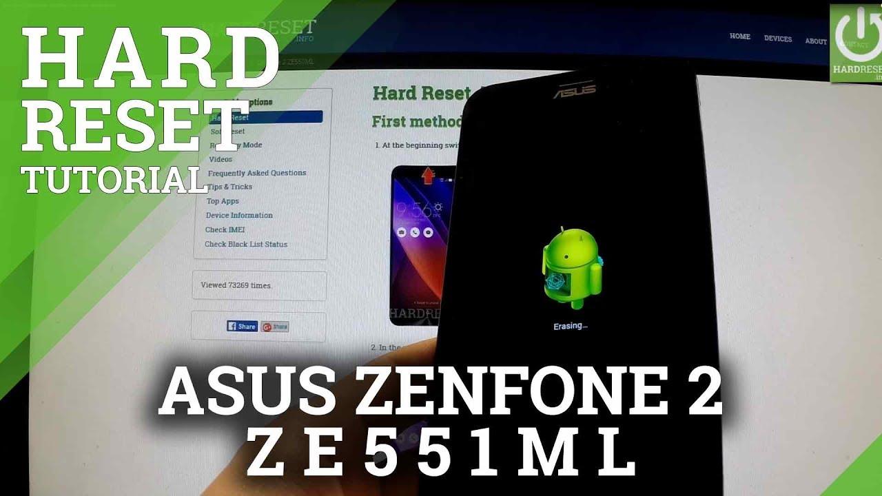 Hard Reset ASUS Zenfone 2 ZE551ML - HardReset info