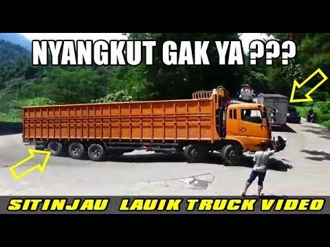 TRUK FUSO TRIBAL PANJANG PAMER KEBOLEHAN LEWAT SITINJAU LAUIK !!!