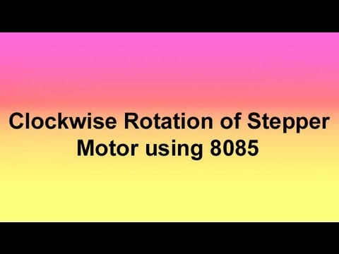 Clockwise rotation of stepper motor using 8085
