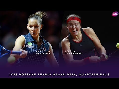 Karolina Pliskova vs. Jelena Ostapenko | Porsche Tennis Grand Prix Quarterfinals
