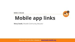 Mobile App Links In Moodle 3.4 thumbnail
