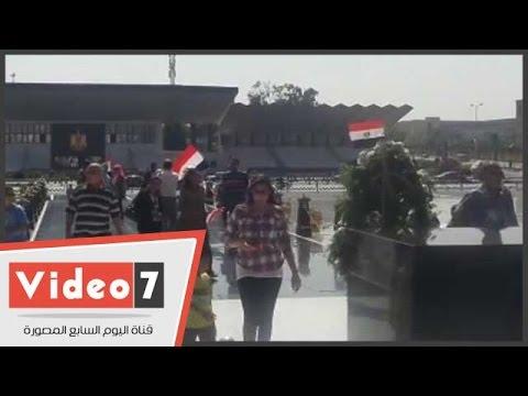 اليوم السابع : توافد المواطنين على ضريح السادات بمناسبة ذكرى نصر أكتوبر