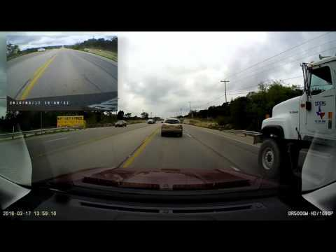 Illegal Passing in Center Lane, Highway 290W, Austin, TX