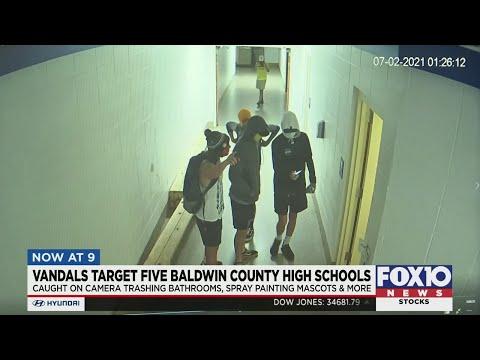Young vandals target five Baldwin County high schools