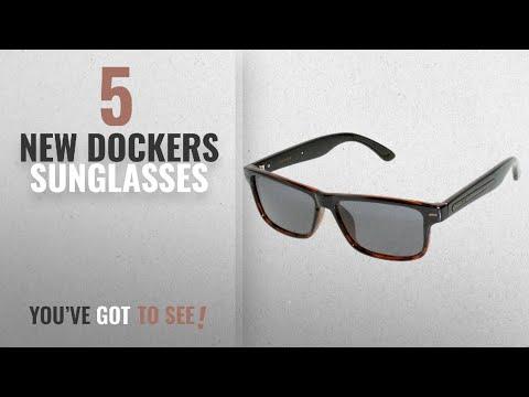 top-10-dockers-sunglasses-[-winter-2018-]:-dockers-mens-retro-sunglasses-one-size-black/brown