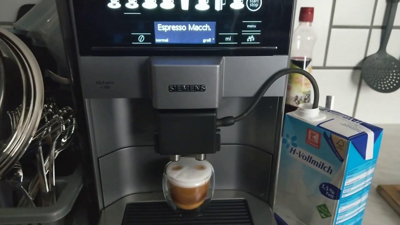 Siemens Eq 6 Plus S100 Test Siemens Kaffeevollautomat Test Youtube