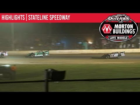 World of Outlaws Morton Buildings Late Model Series Feature Event Highlights from Stateline Speedway in Jamestown, New York on September 19th, 2019. - dirt track racing video image