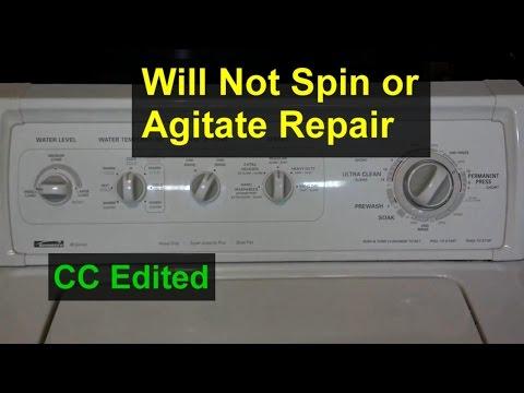 washing machine not agitating