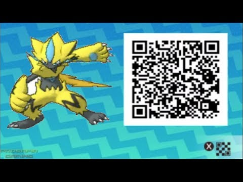 ZERAORA QR CODE EVENT GAMEPLAY! HOW TO GET ZERAORA POKEMON ULTRA SUN AND ULTRA MOON (PARDOY)