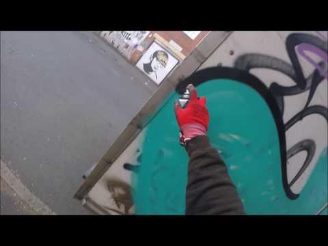 Graffiti - Ghost EA - Truck Graffiti Raw Footage
