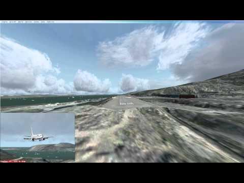 737 Landing in Nuuk