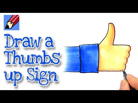how to draw a thumb step by step