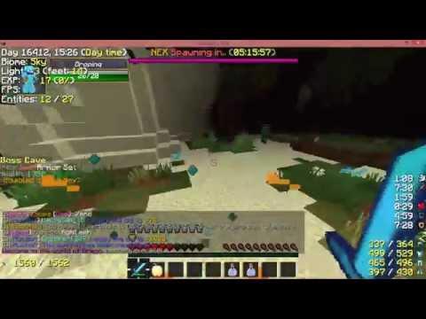 Dropinq Hacking on Desteria Minecraft!
