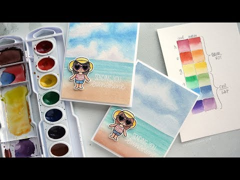 Warm vs. Cool Colors + How to Watercolor a Beach Scene