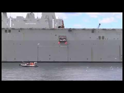 LHD Canberra, marine evacuation system