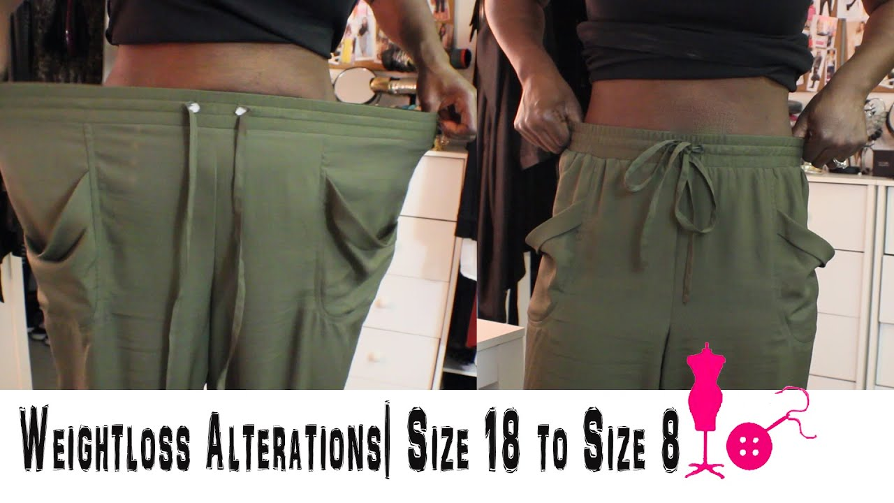 how to alter a size 18 pants to a size 8 weightloss alterations youtube. Black Bedroom Furniture Sets. Home Design Ideas