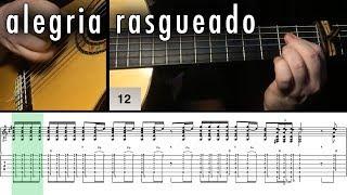Flamenco Guitar 102 - 30 Alegria Rasgueado