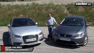 Audi A3 vs Seat León: ¿En qué se diferencian? | Prueba / Test / Review en español | coches.net