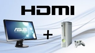how to connect xbox 360 with hdmi and pc with dvi to pc monitor