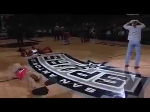 Shawn Michaels and Rebecca (HBK & Whisper) Footage From The Spurs Game !