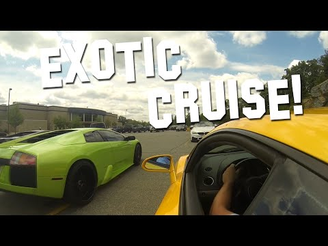 Exotic Car Cruise [RAW] East Coast Exotics Gallardos, Murcielagos, C7 z06, Vipers and more.