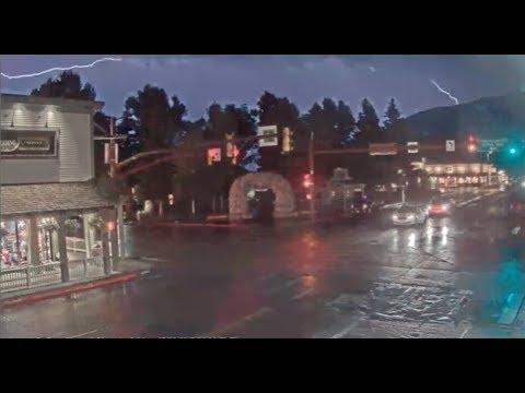 Jackson Hole Wyoming Town Square ⚡ lightning