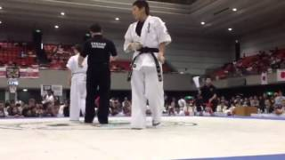 2012WKO空手ワールドカップ 上田都 対 山口千怜